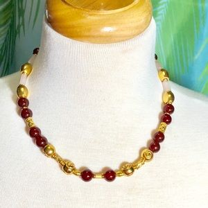 Jewelry - genuine red agate necklace